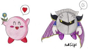 Kirby and Meta Knight by DeathTwilight