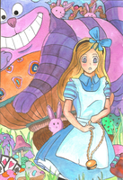 Alice In Wonderland by Kohaku-Koifish