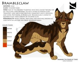 Brambleclaw Character Sheet by Nightrizer