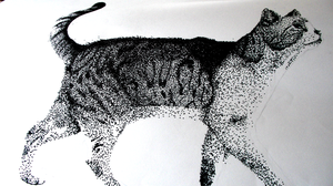 Pointillism Cat by Panai