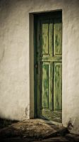 Green door from canarias by MagaliM