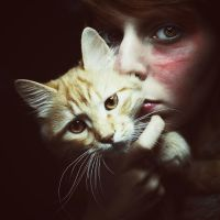 Portrait of a Cat by ennil