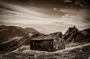 old house in the mountains by poisen2014