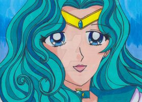 Sailor Neptune: Traditional by YuniNaoki