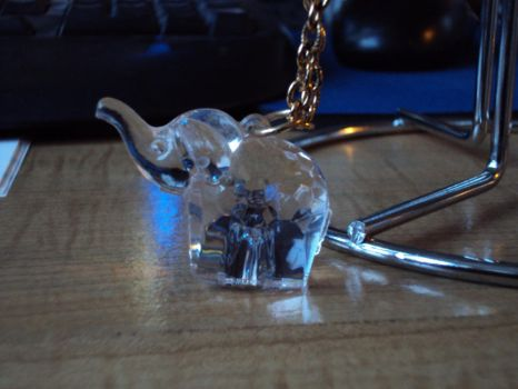 faceted plastic elephant necklace by Alondra-chui