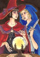 Witchcraft Sketch Card - Molly Brewer 2 by Pernastudios