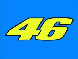 Valentino Rossi 46 number by sizedoes