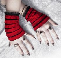 Red Queen Wakes Wristlets by ZenAndCoffee