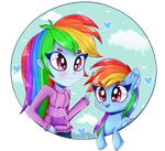 Rainbows! (+SpeedPaint) by Sweet-Pillow