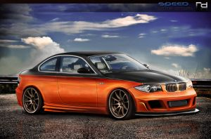BMW 1 Series Orange by Rob3rT----Design