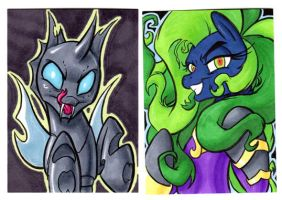 CHANGELING and MANE-IAC Cards by RetroStarLing