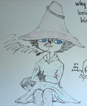 The Joxter chillin' on the whiteboard by PkmnTrainerSabi