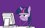Twilight Sparkle Reaction Face by Orschmann