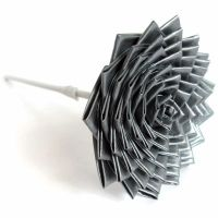 Grey Duct Tape Flower by DuckTape-Rose