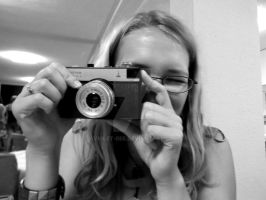 With old camera by Violet-Bee