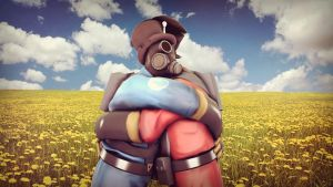 [Request] Pyro hug by BlueWolfFemscout
