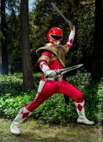 MMPR Red Ranger: Dragon Shield, Power Up! by effektdmentality