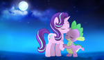 Commission : Starlight and Spike by PinkamenaScratch