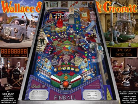 Wallace And Gromit Pinball pt2 by EalaDubh