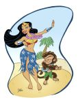 Wonder Woman Dances Hula by jerrycarr