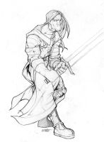 templar knight pencil by thenota