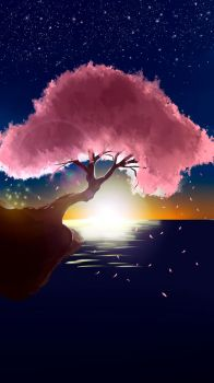 Tree (practice) Paint Tool Sai by WichuWow