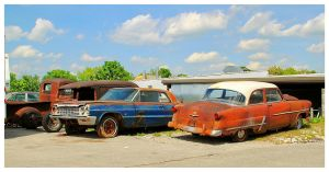 Four Old Cars Waiting To Be Restored by TheMan268