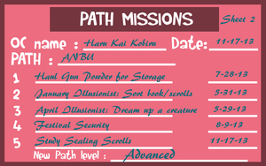 HSV - Haru's Path Missions, Sheet 2 by Wolffie12