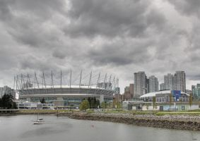 B.C Place and Rogers Arena by Vonburgherstein