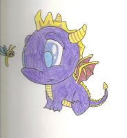 Baby spyro and sparx by AngelForAdoption