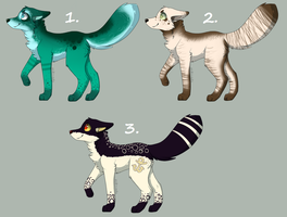 ~*ADOPTABLES - OPEN*~ (REDUCED PRICE) by JaysAdopts