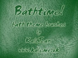 Bathtime - Texture Brushes by kalijean