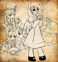 Ponies in wonderland by piemon1