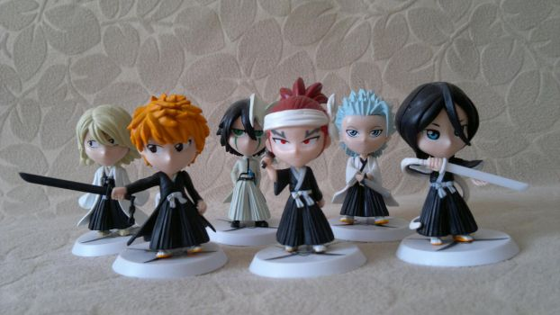 Chibi Bleach Figures Set by ng9