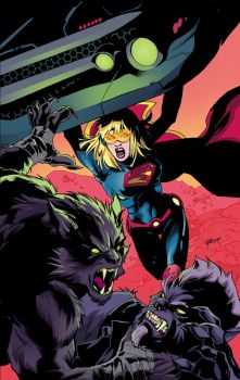 Supergirl 38 cover by Emanuela Lupacchino by whoisrico