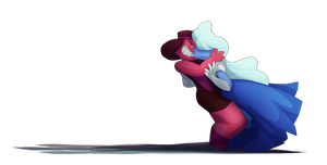 Ruby and Sapphire by dragonstonet