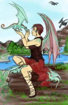 Dragon Lady REDO by CrimsonRed-and-Feral