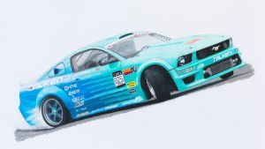Falken Ford Mustang Drift Car by Anths95