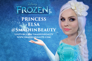 Frozen Princess Elsa Makeup Tutorial Costume by smashinbeauty