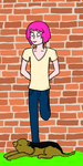 Another Hipster On the Wall by Digi-Shaman-of-Fire