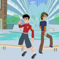 jake long and spud 6teen style by Brockleon