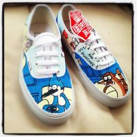 Regular Show Vans Death Punchies by VeryBadThing