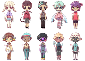 Chibi Adopts - OPEN [5/10] Prices lowered! by CamuKamu