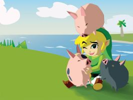 Link's Day Off by darkfury
