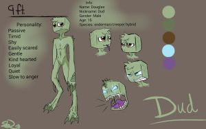 Dud reference sheet (edited info.) by SnapDragonStudios