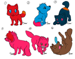 Chibi Wolf Adopts (5 points each) by bendrownedkitten