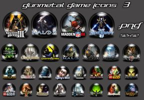 Gunmetal Game Icons 3 by Shortie111