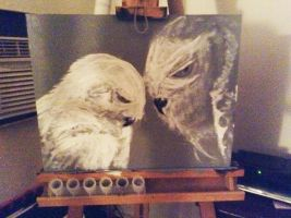 Arctic Owls by PatrickPower