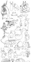 A Great Big Sketchdump- Fall Semester by Turtle-Arts
