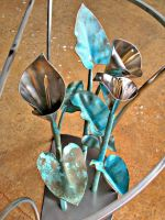 Calla Lily Hall Table,detail by ou8nrtist2
